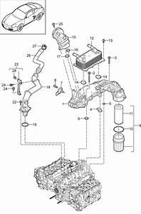 Porsche Cayman Heat Exchanger Gasket  Oilconducting