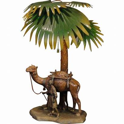 Palm Arabian Tree Camel Painted Austrian Cold