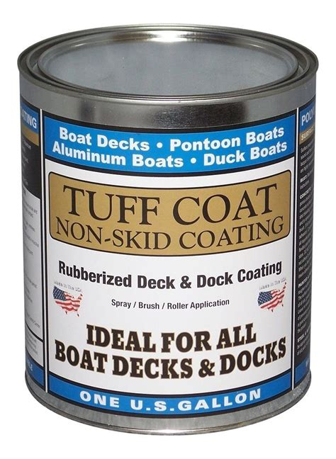 Boat Deck Anti Slip Paint by Tuff Coat Diy Rubberized Non Skid Boat Deck Coating Kit Ebay