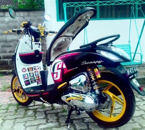 Motor Scoopy Ungu by Foto Modifikasi Motor Drag Scoopy Terkeren Dan Terbaru