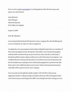 sample cover letter for accounting fresh graduate With example of cover letter for fresh graduate accounting