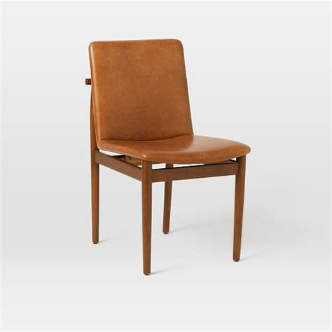 framework leather dining chair west elm