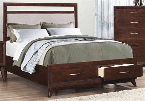Carrington Coffee Queen Platform Storage Bed From Coaster