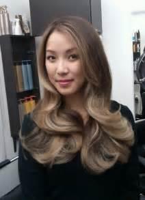 Ash Brown Hair with Blonde Balayage