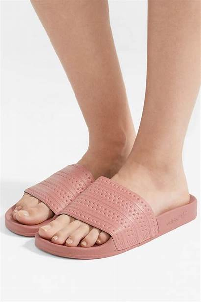 Brand Adidas Slides Pink Adilette Shoes Flat