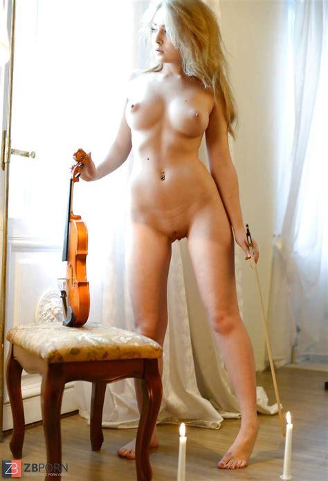 Gerda Violin On Vintage Tabouret ZB Porn