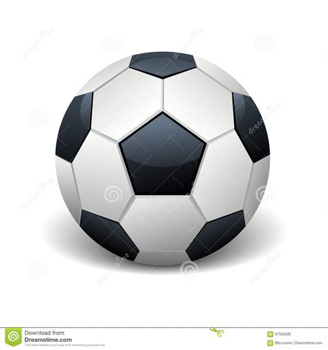 foto de Illustrazione Bianca Di Vettore Del Pallone Da Calcio