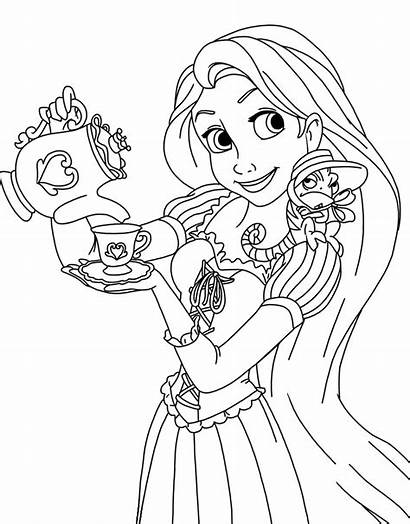 Rapunzel Coloring Pages Tangled Disney Printable Pascal