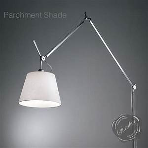 Tolomeo mega floor lamp stardust for Tolomeo reading floor lamp with parchment shade