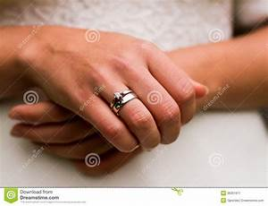 wedding ring stock image image 36301911 With wedding rings on both hands