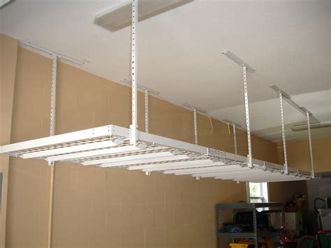 Garage Shelving Hanging by Installing Advantages Overhead Garage Storage The Home