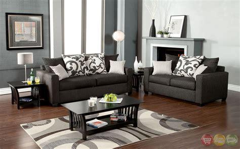 Grey Living Room Sets colebrook contemporary medium gray living room set with