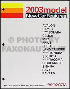 2003 Toyota Highlander Wiring Diagram Manual Original