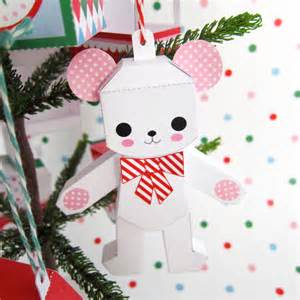 teddy jack in box rocking horse ornaments printable paper christmas crafts fantastic toys