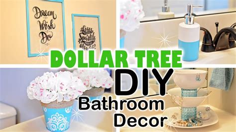 dollar tree diy spring bathroom decor youtube