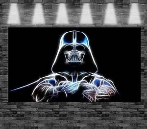 Star Wars Leinwandbild : xxl star wars darth vader auf leinwand 110x60cm limitiert loft design bild luke ebay ~ Orissabook.com Haus und Dekorationen