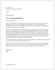 reprimand letter writing guide  sample template word