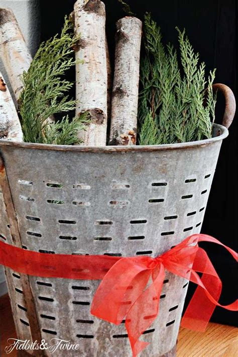 decorating  olive buckets beneath  heart