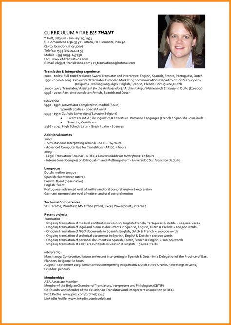 Resume Model by Cv Model Letters Free Sle Letters