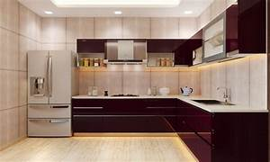 modular kitchen the best modern place to cook With best brand of paint for kitchen cabinets with 3d wood wall art