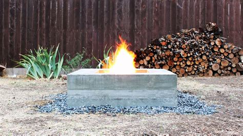 outdoor concrete fire pit youtube