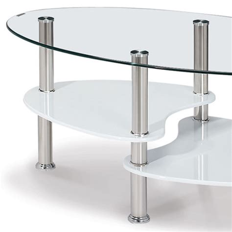 deco in table basse en verre trempe ovale opunake