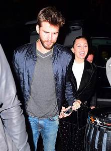 MILEY CYRUS and Liam Hemsworth Arrives at SNL Afterparty ...