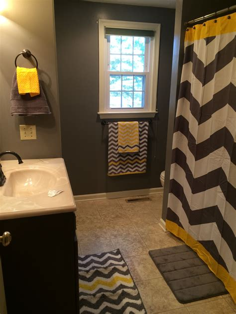 yellow and gray bathroom ideas gray and yellow chevron bathroom or substitute the yellow for any color home country ideas