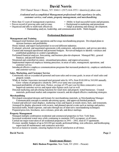 resume exles for retail retail manager resume templates sles