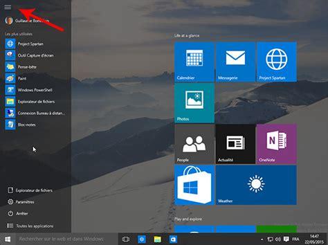 windows 10 comment agrandir le menu démarrer ou passer