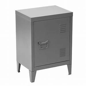 Meuble Rangement Gris : meuble bas casier m tal vintage gris buffet et rangement topkoo ~ Teatrodelosmanantiales.com Idées de Décoration