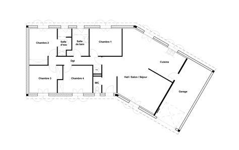 plan maison demi niveau 4 chambres plan maison 4 chambres maison moderne