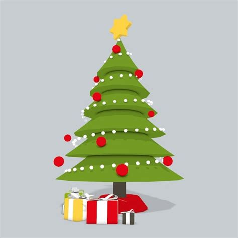 3d christmas tree low poly by subbersabe 3docean