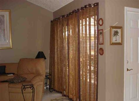 bamboo vertical blinds sliding glass doors decor ideas