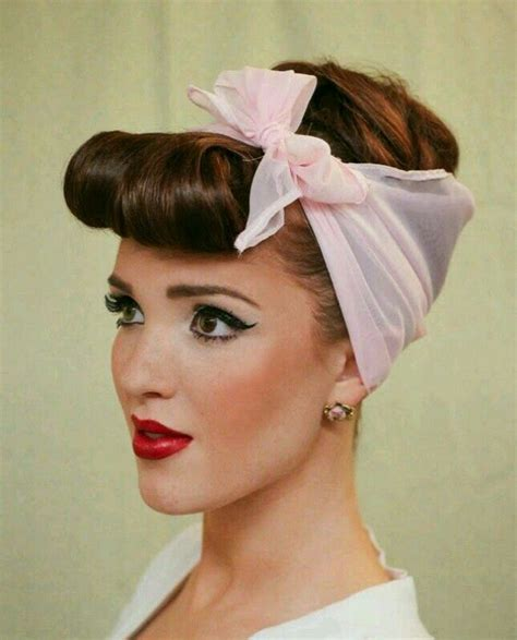 house wife makeup  hairstyle rockabilly hair