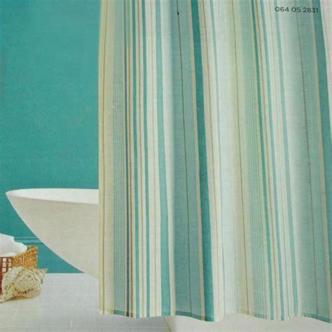 target home aqua stripe fabric shower curtain