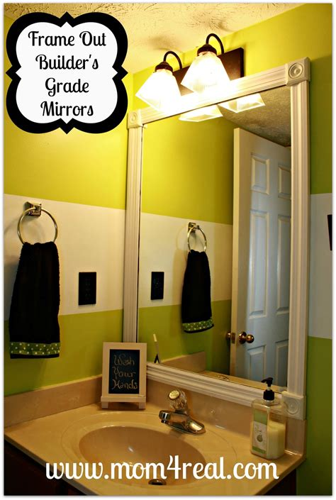 Builder Grade Bathroom Mirror by Frame Out Your Builder S Grade Mirror Without Mitering
