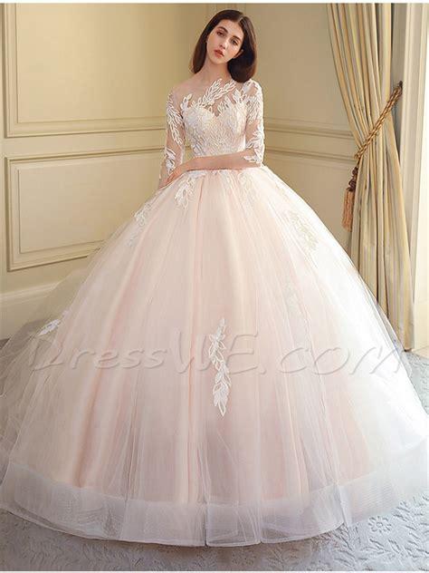 Sequins Appliques Ball Gown Wedding Dress 13161783