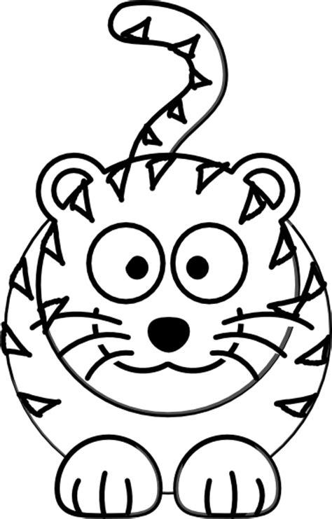 cartoon tiger outline clip art  clkercom vector clip