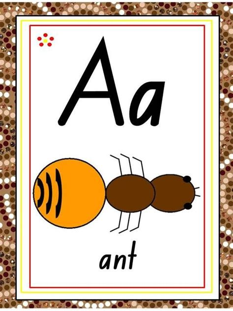 aboriginal abc chart flash cards letter tracing etsy