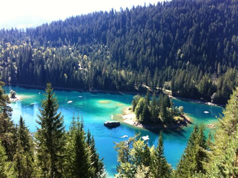 Most Beautiful Lake In Switzerland Caumasee Flims