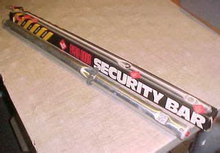 commercial back door security bars on popscreen
