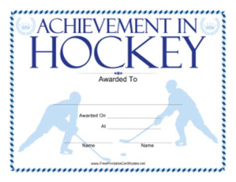 Hockey Certificate Templates Costumepartyrun