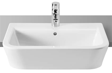 Shop Bathroom Accessories by Roca The Gap White Semi Recessed Basin 560mm Wide 32747s000