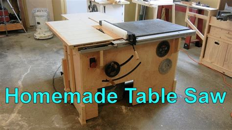 make a table saw table my homemade table saw youtube