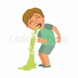 Boy Vomiting Sick Kid Feeling Unwell