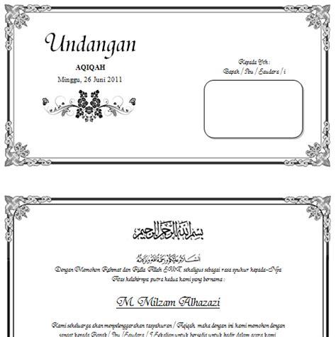 template undangan walimatul ursy tahlil