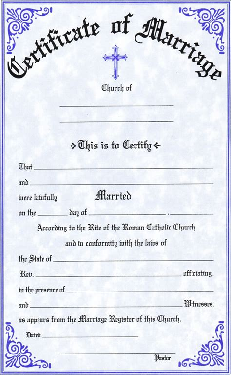 marriage certificates  mckay church goods