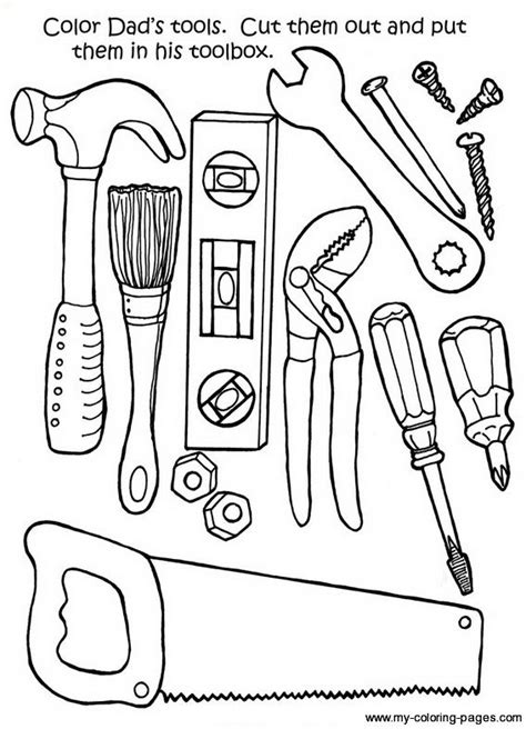 toolbox coloring page tools for tool belt letter quot t quot coloring
