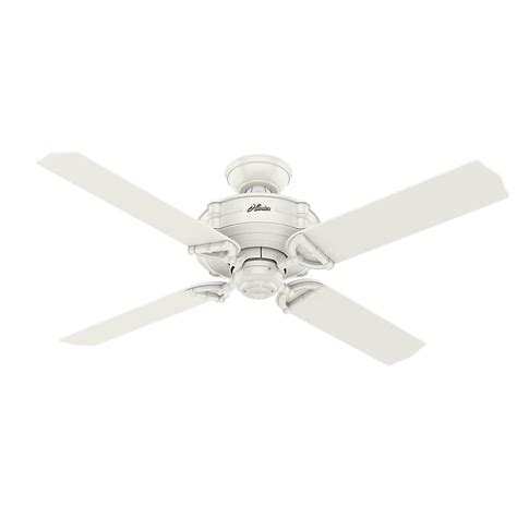 52 white ceiling fan with remote control hunter brunswick 52 in indoor outdoor fresh white ceiling